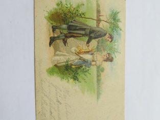 Vokiškas 1906 , porelė prie keliuko