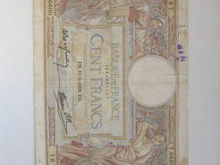 100 francs , Prancūzija , 1939