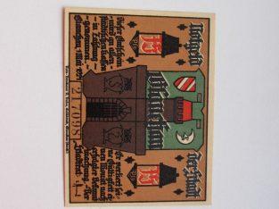 Notgeldas 75 pfennig , Glauchau Vokietija ,1921