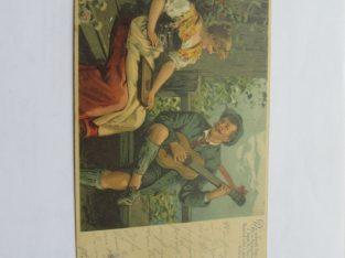 Austriškas , 1905 , porelė su gitara