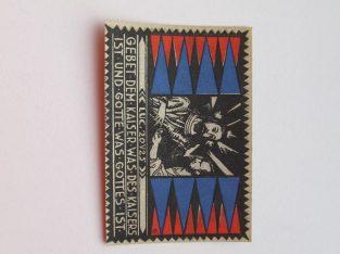 Notgeldas 75 pfennig , Eutin Vokietija ,1921