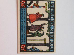 Notgeldas 75 pfennig , Goch Vokietija ,1922 -3