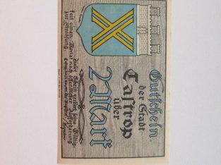 Notgeldas 2 mark , Castrop Vokietija , 1921