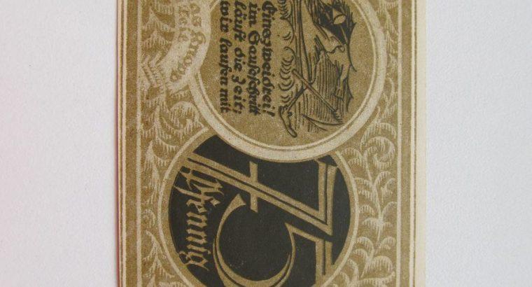 Notgeldas 75 pfennig , Stolzenau Vokietija ,1921