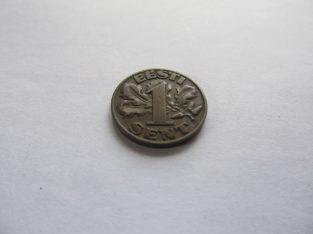 1 sent , Estija , 1929 .