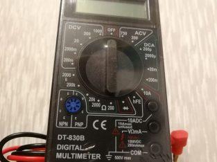 Skaitmeninis multimetras-testeris itampos, sroves, varzos ir kitu elektros parametru matavimui