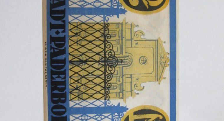 Notgeldas 2 mark , Paderborn Vokietija ,1921