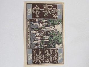 Notgeldas 75 pfennig , Brauschweig Vokietija ,1921