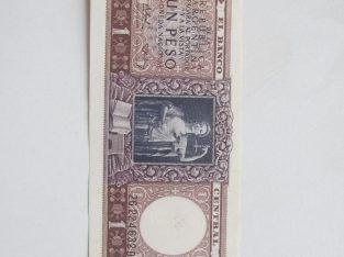 1 peso , Argentina , 1956 nelenktas