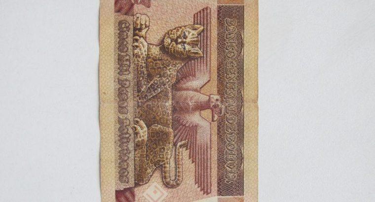 5000 bolivianos , Bolivija , 1984