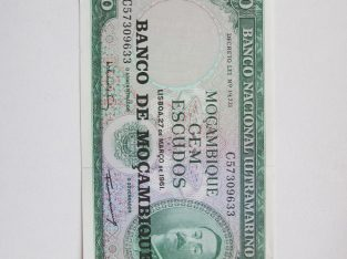 100 escudos , Mozambikas , 1961 nelenktas