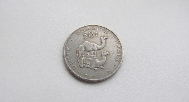 50 francs , Džibutis , 1977