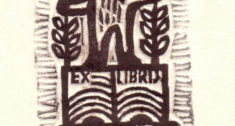 Jadvyga MOZŪRAITĖ-KLEMKIENĖ (1923-2009). Ex libris V.Armalo, 1973