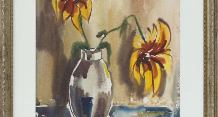 Nijolė GILIENĖ. Gėlės vazoje, 1980.