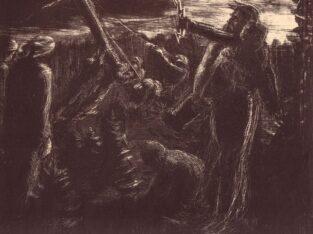 Anatolijus JOČINAS (Anatol JOCZYN) (1911 Kaune – 1956 Lenkijoje). Be pavadinimo (Kryžiaus kėlimas), 1936.