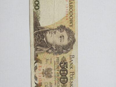 500 zlotu , Lenkija , 1982