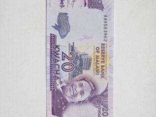 20 kwacha , Malavis , 2012 unc