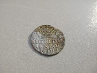 1 grašis , Lietuva Lenkija , 1624 sidabras