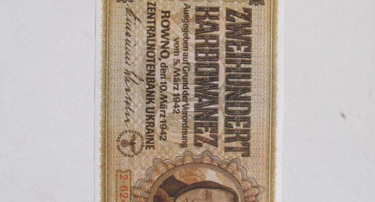 200 karbowanez , Ukraina , 1942