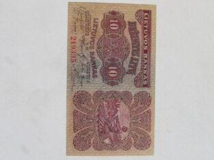 10 litu , Lietuva , 1922
