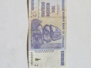 10 bilijonu doleriu , Zimbabvė , 2008