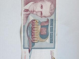 5 milijonai dinaru , Jugoslavija , 1993