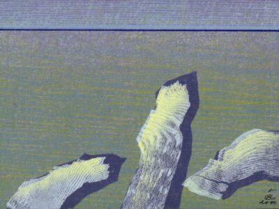 """Romualdas ČARNA (g.1939). Diptikas """"Ledonešis"""" ir """"Ledonešis I"""", 2010."""