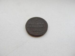 1 / 2 kapeikos sidabru , Rusija , 1844
