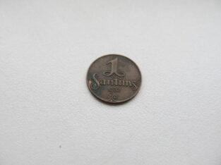 1 santims , Latvija , 1932