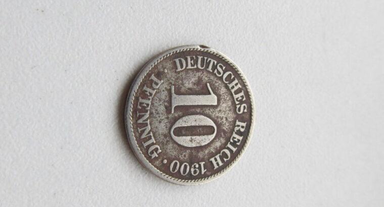 10 pfennig , Vokietija , 1900
