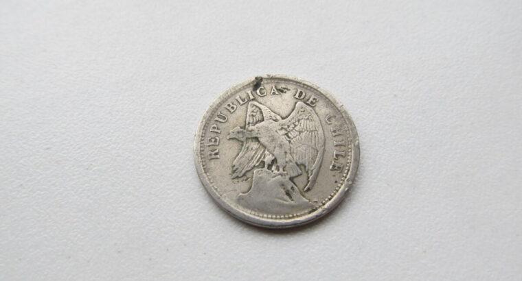 20 centavos , Čilė , 1923