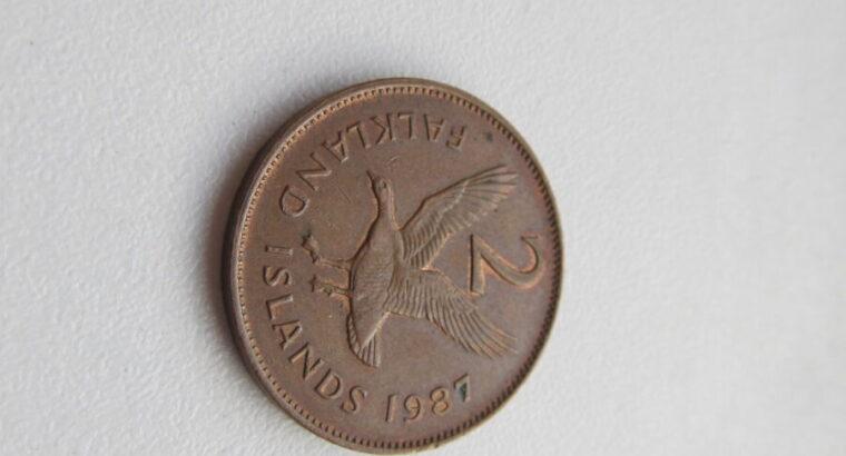 2 pence , Falklandų salos , 1987