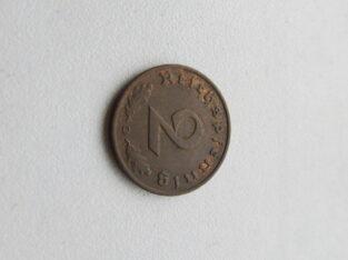 2 reichspfennig , Vokietija , 1939 D